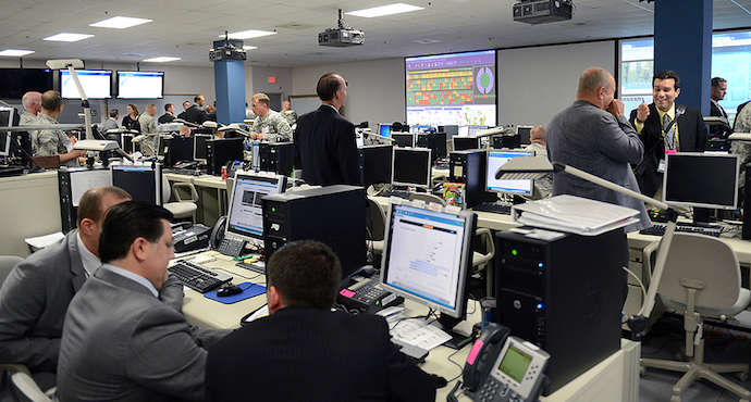 US civilian and military operators during exercise Cyber Guard 2015