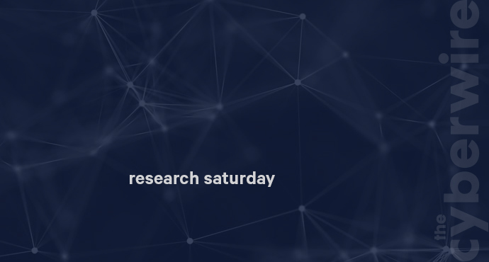 Research Saturday 6.1.19