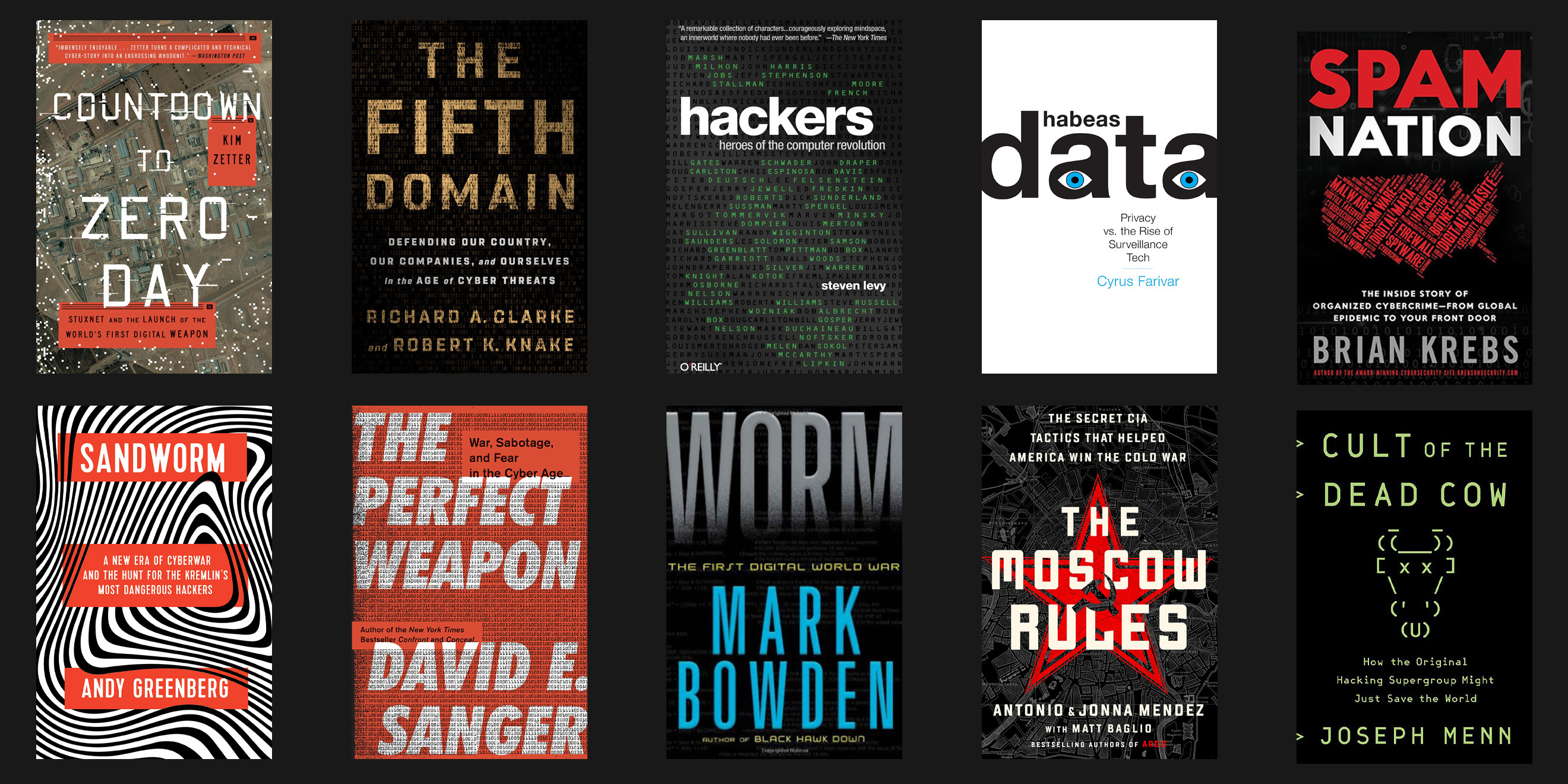 Our 10 favorite non-fiction cybersecurity books.