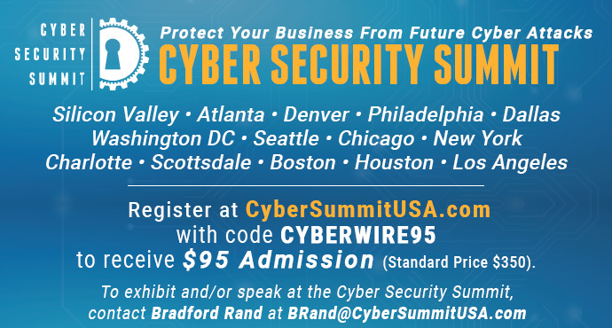 Cyber Security Summits: 2019