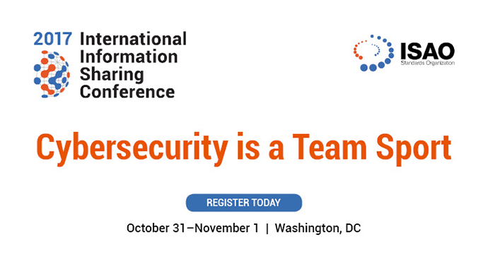 The International Information Sharing Conference on October 31 and November 1 in Washington, D.C.