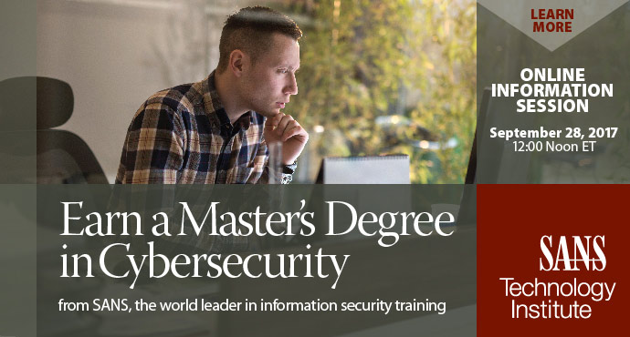 Earn a master's degree in cybersecurity from SANS
