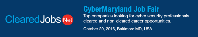 CyberMaryland Job Fair (10/20/16)