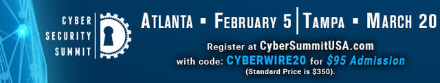 Cyber Security Summits: February 5 in Atlanta and on March 20 in Tampa