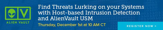 AlientVault USM Webcast (12.1.16)