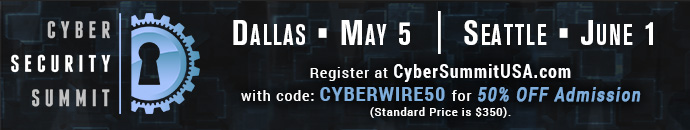 Cyber Security Summit - 5.5.17 - CYBERWIRE50